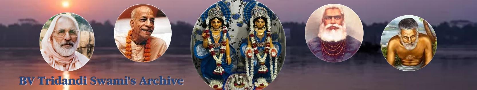 Sripad Bhaktivedanta Tridandi Swami header image